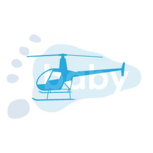 Razítko vrtulník 7 x 4 cm