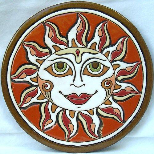 Keramický obrázek - Slunce K-129-CI
