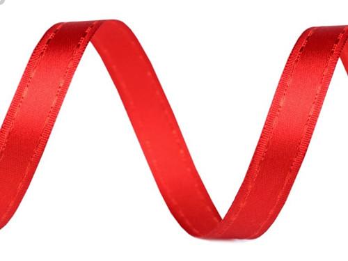 Atlasová stuha šíře 13 mm (2m) - červená