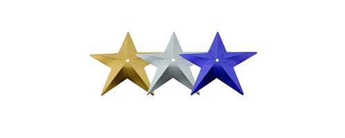 Flitry hvězdy s dírkou 9 g (3x3g) =329-196,124,312