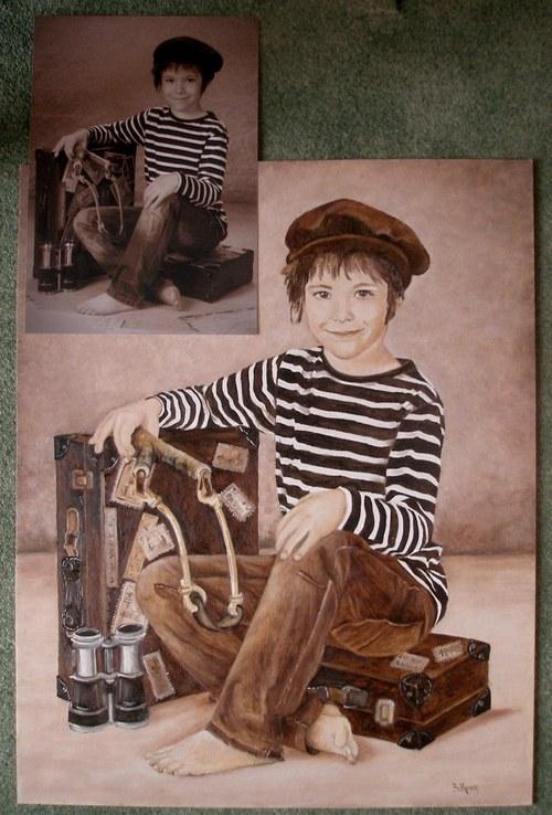 portrét, postava podle fotografie