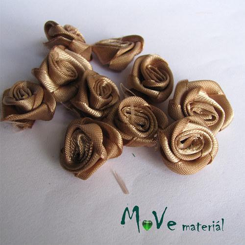 Růžička saténová sv. hnědá Ø20mm, 10kusů