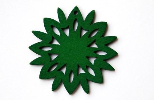 dřevěná sluníčka- tmavě zelená