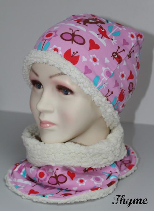 Jezevčíková čepice zateplená