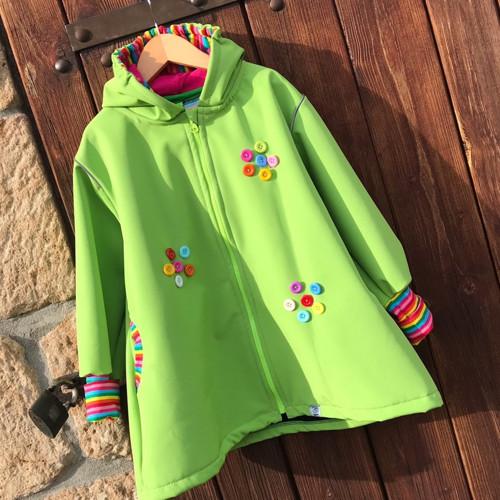 dětský softshell kabátek ... S KNOFLÍKY PRO ŠTĚSTÍ