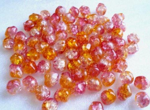 Práskané oranžovo růžové