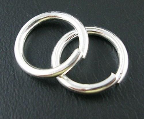 Kroužek spojovací pr. 6 mm, 100 ks - barva stříbra