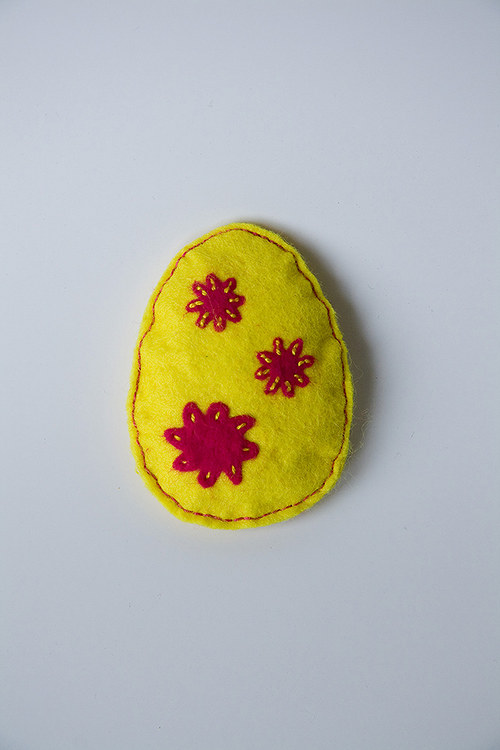 Velikonoční vajíčko s kytkama