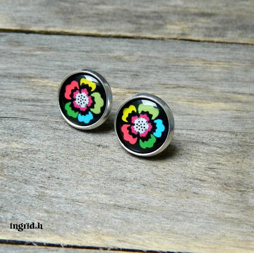 Náušničky Květiny