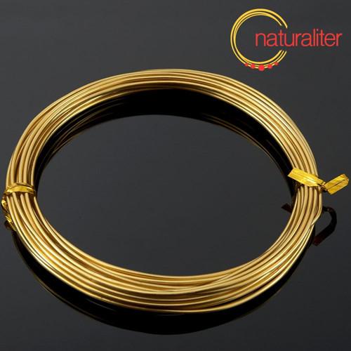 Hliníkový drát zlatý, 1,5mm x 6m