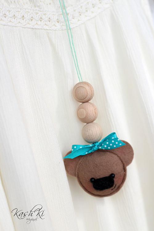 Dětský náhrdelník s medvídkem