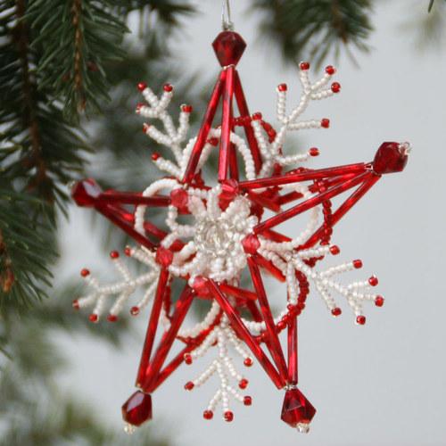 Vánoční ozdoba z korálků 3D