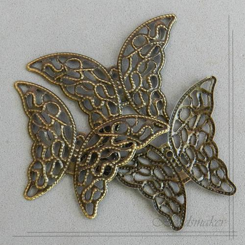 Přívěsek Motýl, 41x29 mm, 2 ks
