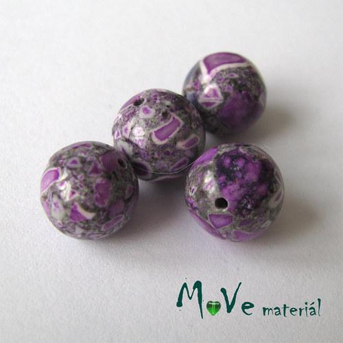 Korálky Marble fialové 10mm 4ks