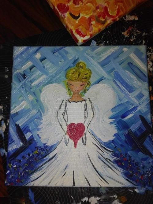 Anděl lásky v modrém