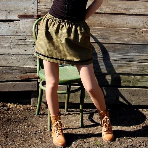 Dámská sukně Amala zelená