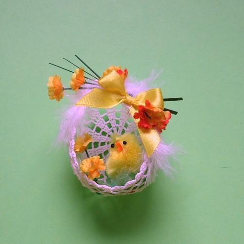 Háčkované vajíčko -větší