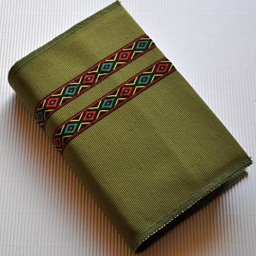 Indiánský ornament, světle zelená - obal na knihu