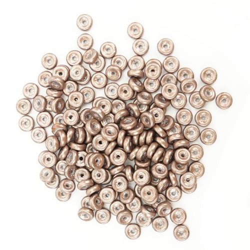 Skleněné DISKY 6x2mm - bronzová (100ks)