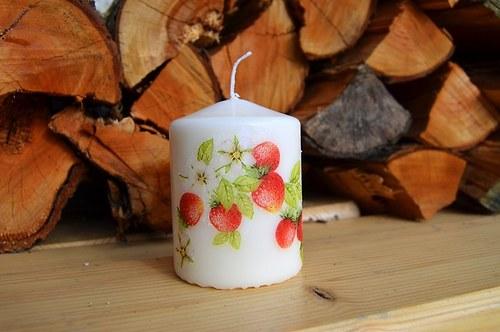 Svíčka - jahůdky