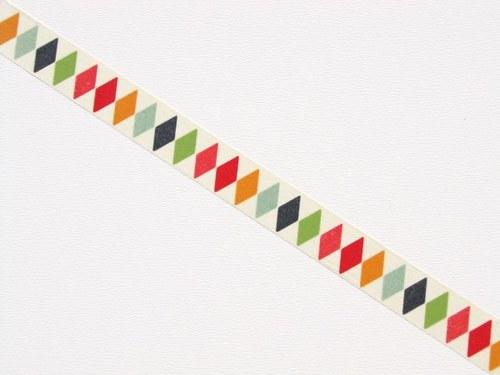Páska: Barevné kosočtverce (1,5 x 33 cm)