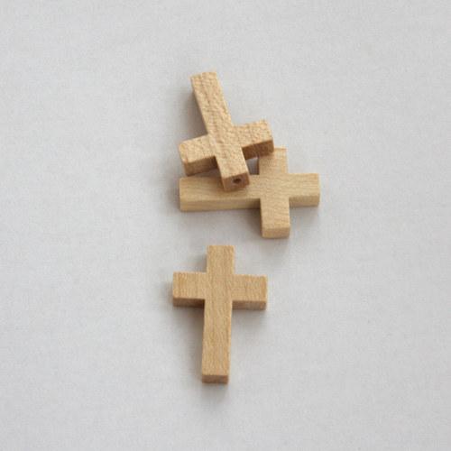 dřevěný křížek - přírodní dřevo