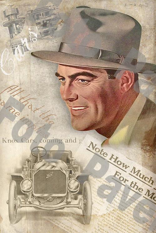 Vintage motiv - gentleman a auto 2