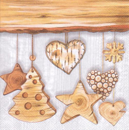 Ubrousek - dřevěné vánoční ozdoby