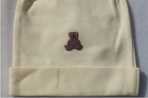 Čepička růžek žlutá - medvídek