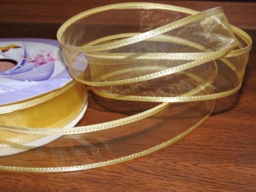 Monofilová stuha šíře 23 mm žlutá