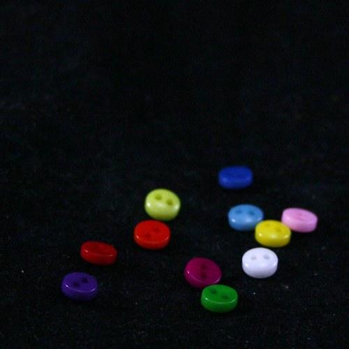 5mm plastové knoflíky 10ks