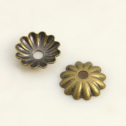 Minikaplík starobronz miska 0,6x1,5mm, 50ks