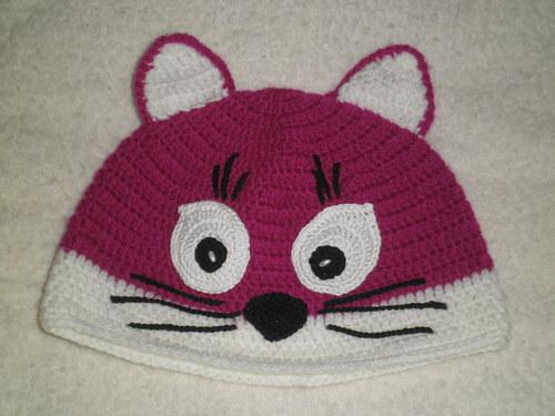 zimní kočičková čepice