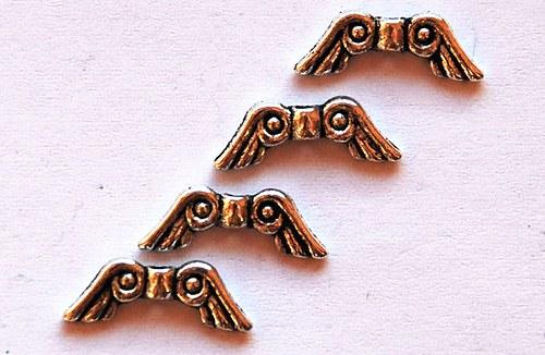 4ks kovový korálek 6x14