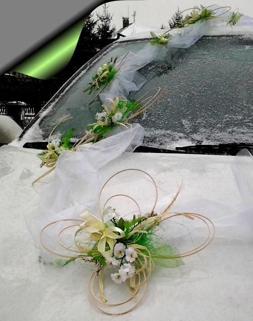 Výzdoba svatebního auta- čtyřlístková sada(klasik)