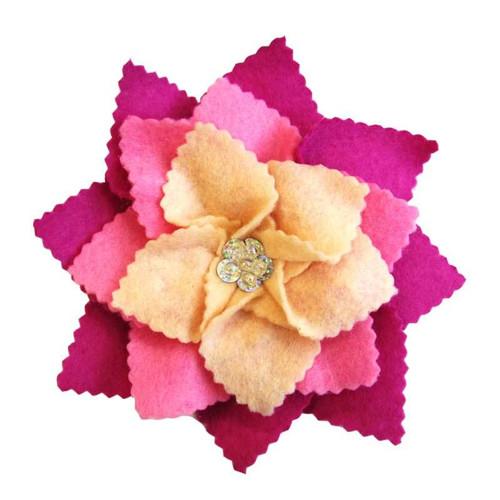 Filcová brož květ Ø 15 cm
