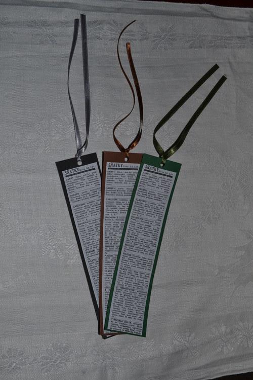 Záložky do knih - sňatky... 3 kusy