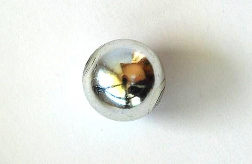 Kulička lesklá 20mm - stříbrná