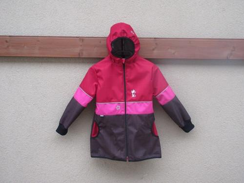 Softshellový kabátek - rub úplet vel.110/116