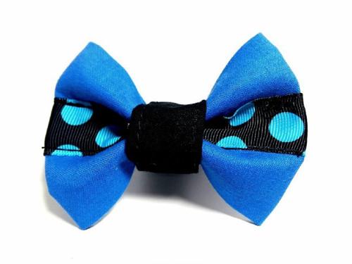 Motýlek pro psa Modrý puntík