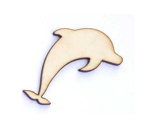 Delfín ze dřeva (obrys) - šíře 5 cm