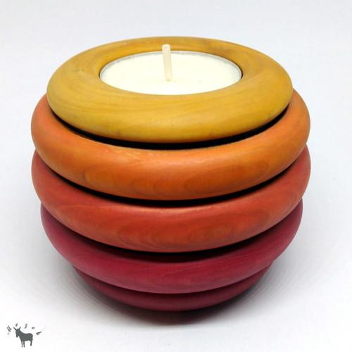 Dřevěný svícen