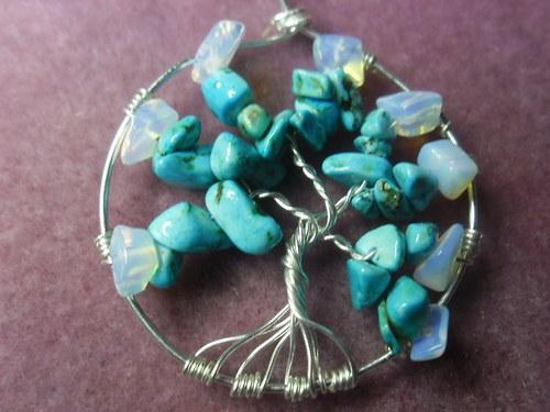 Přívěsek kamený strom života.
