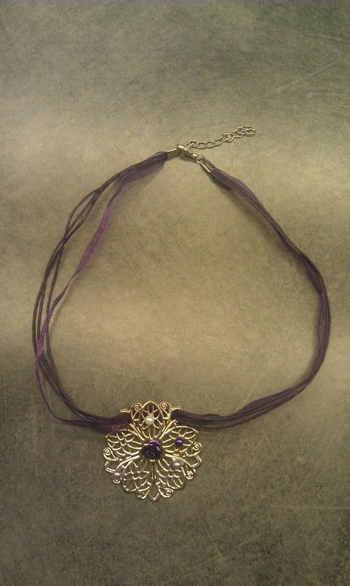 Květovaný květ - náhrdelník