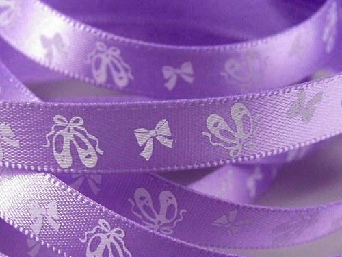 Saténová stuha 10 mm:Baletka- fialová
