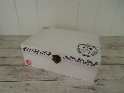 Dřevěná krabička - sovička