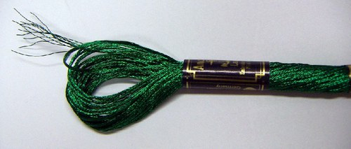 Anchor Lamé - zelená