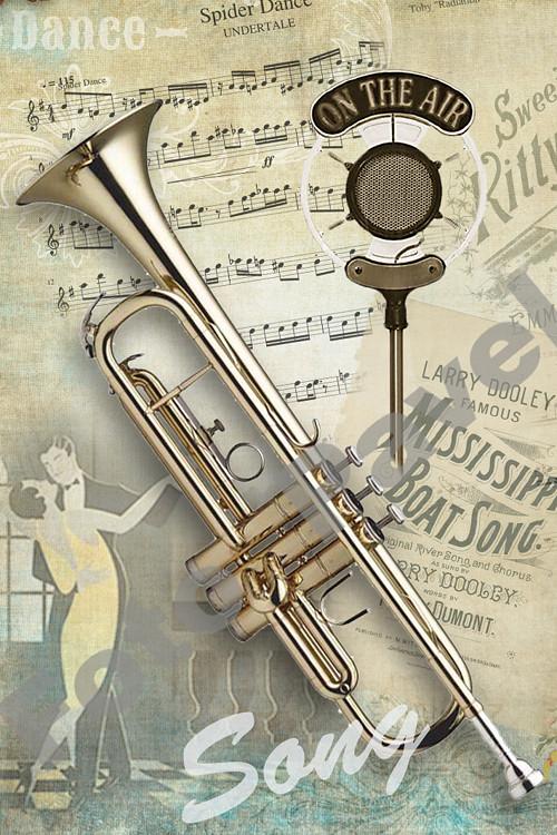 Vintage motiv - trubka - song