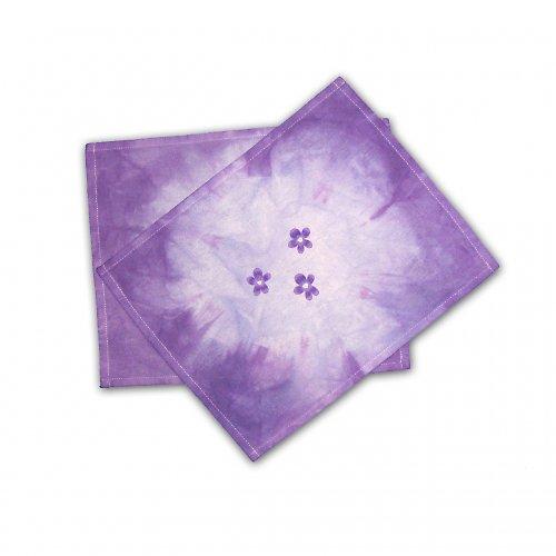 Prostírání s fialkami - 4 ks