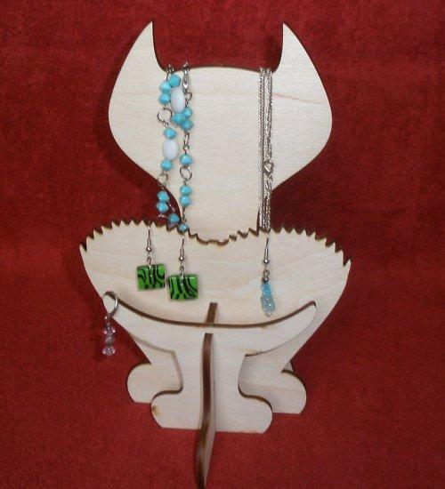 Stojánek-věšák na šperky KOČKA
